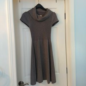 Banana Republic Grey Turtleneck Cap Sleeve Dress,